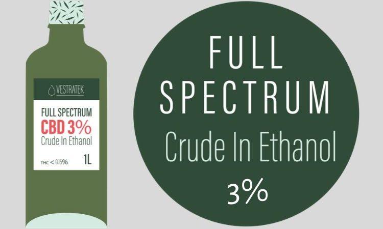 CBD Oil 3% Crude in Ethanol - Cantopia