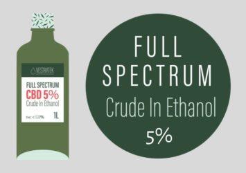 CBD Oil 5% Crude in Ethanol - Cantopia